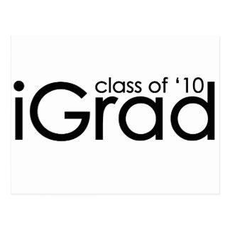 graduado del iGrad 2010 Tarjetas Postales
