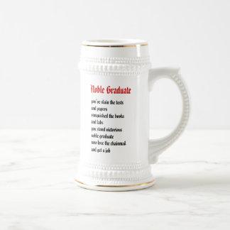 Graduado del noble jarra de cerveza