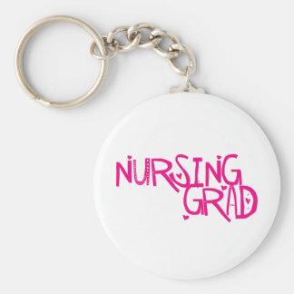 Graduado del oficio de enfermera llavero redondo tipo pin