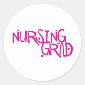 Graduado del oficio de enfermera pegatina redonda