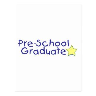 Graduado del preescolar (azul) tarjeta postal