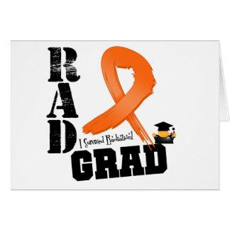 Graduado del RAD de la radioterapia de la leucemia Tarjeta De Felicitación
