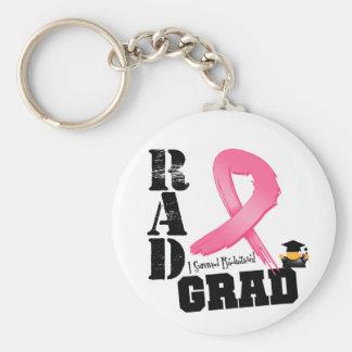 Graduado del RAD de la radioterapia del cáncer de  Llavero Redondo Tipo Pin