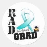 Graduado del RAD de la radioterapia del cáncer de  Pegatina