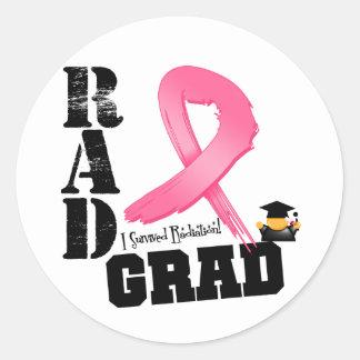 Graduado del RAD de la radioterapia del cáncer de Pegatina Redonda