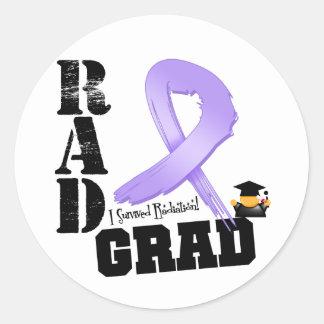 Graduado del RAD de la radioterapia del cáncer Pegatina Redonda