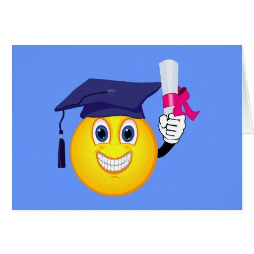 Graduado del smiley felicitacion
