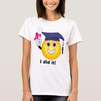 Graduado del smiley playera