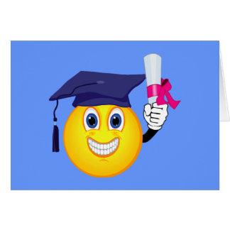 Graduado del smiley tarjeta de felicitación