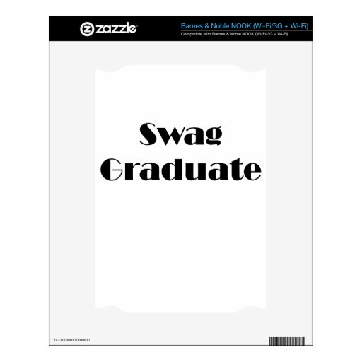 Graduado del Swag Skin Para El NOOK