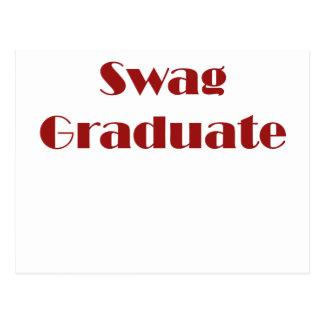 Graduado del Swag Tarjeta Postal