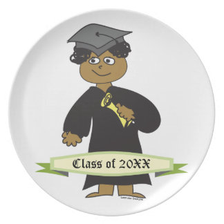 Graduado del varón de la placa de la graduación plato para fiesta