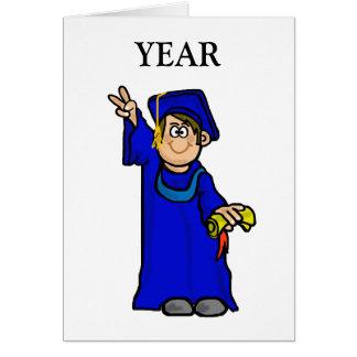Graduado del varón - tarjeta de felicitación del