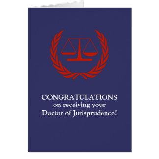 Graduado divertido del colegio de abogados del tarjeta de felicitación