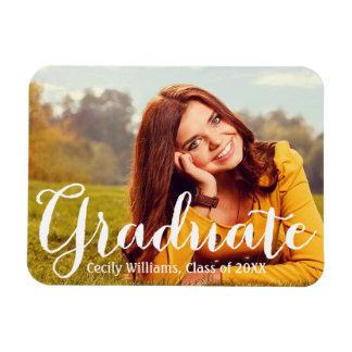 Graduado en la invitación de la foto de la iman flexible