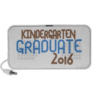 Graduado enrrollado 2016 (azul) de la guardería altavoces de viaje