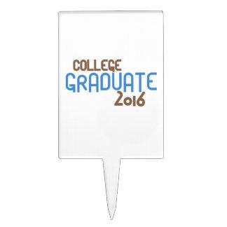 Graduado enrrollado 2016 (azul) de la universidad figuras para tartas