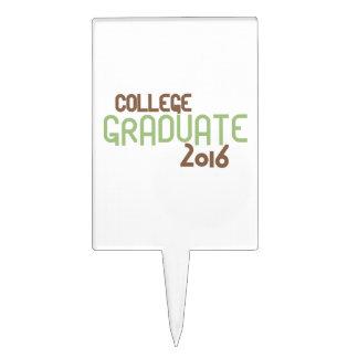 Graduado enrrollado 2016 (verde) de la universidad palillos de tarta
