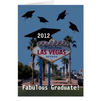 ¡Graduado fabuloso de Las Vegas Tarjeta 2012