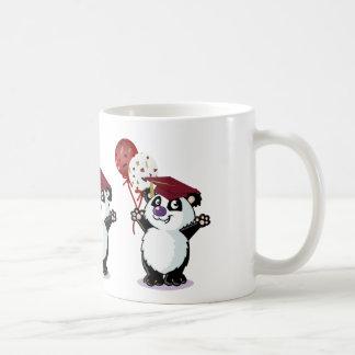 Graduado feliz del oso de panda taza de café
