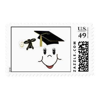 Graduado feliz sellos