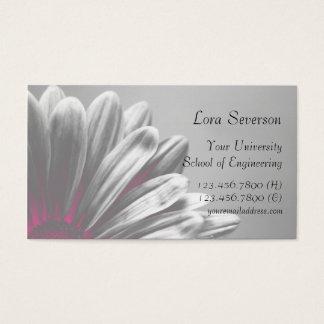 Graduado floral rosado de los puntos culminantes tarjetas de visita