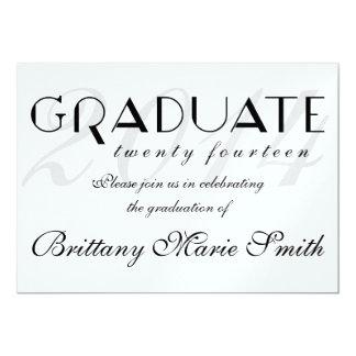 """Graduado formal simplemente elegante 2014 invitación 5"""" x 7"""""""