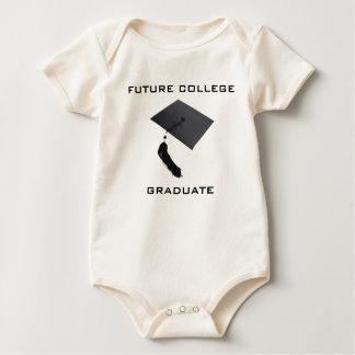 Graduado futuro de la universidad del bebé trajes de bebé