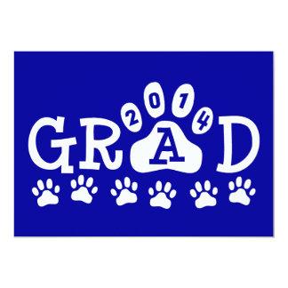 GRADUADO graduación azul y blanca de 2014 de las Comunicados Personalizados