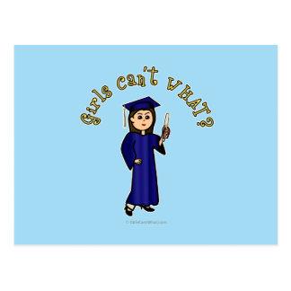 Graduado ligero en azul tarjeta postal