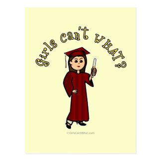Graduado ligero en rojo tarjetas postales