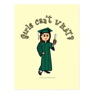 Graduado ligero en verde postal