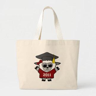 Graduado marrón y del blanco 2011 de las ovejas de bolsa tela grande