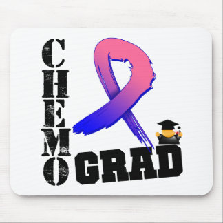 Graduado masculino de Chemo del cáncer de pecho Alfombrillas De Ratón