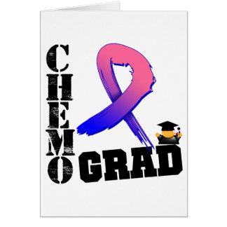 Graduado masculino de Chemo del cáncer de pecho Tarjetón