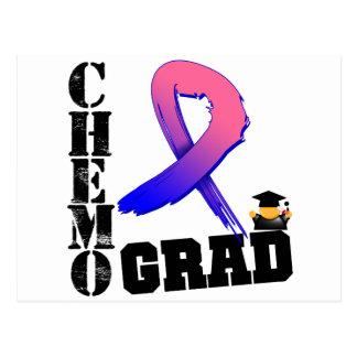 Graduado masculino de Chemo del cáncer de pecho Postal