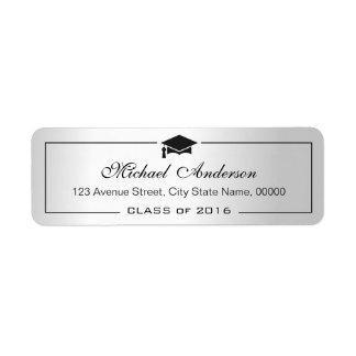 Graduado metálico de plata del graduado del etiqueta de remitente