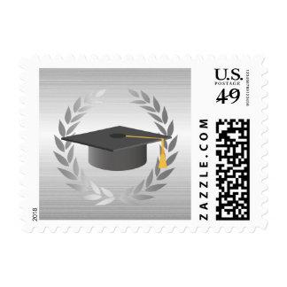 Graduado moderno de la plata del casquillo formal timbre postal