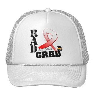 Graduado oral del RAD de la radioterapia del cánce Gorros Bordados