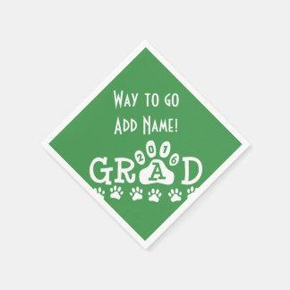 GRADUADO PATAS verdes y blancas de 2016 - Servilletas Desechables