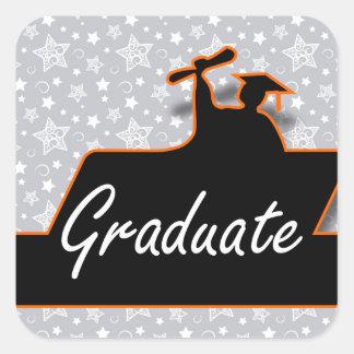 ¡Graduado! Pegatina Cuadrada