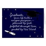 Graduado previsto por la tarjeta de felicitación d