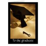 Graduado - puerta abierta tarjeton