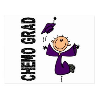 GRADUADO púrpura 1 (cáncer pancreático) de CHEMO Tarjetas Postales