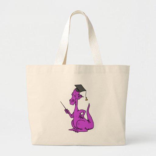 Graduado púrpura del dragón bolsa tela grande