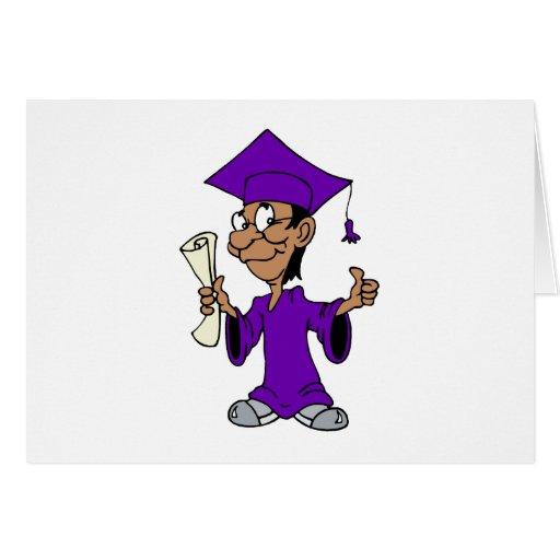 Graduado púrpura felicitacion