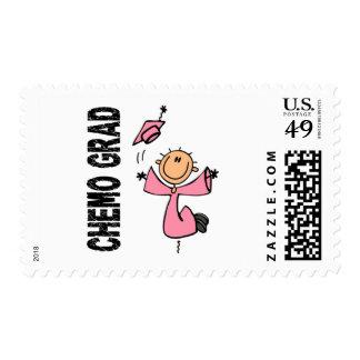GRADUADO rosado 1 (cáncer de CHEMO de pecho) Estampilla