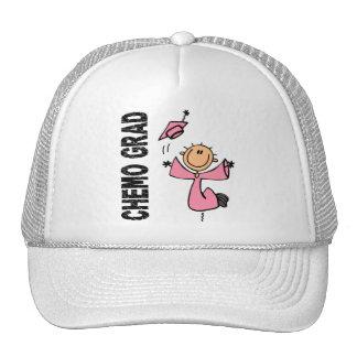 GRADUADO rosado 1 (cáncer de CHEMO de pecho) Gorros Bordados