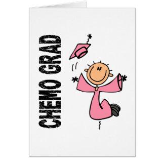 GRADUADO rosado 1 (cáncer de CHEMO de pecho) Felicitacion