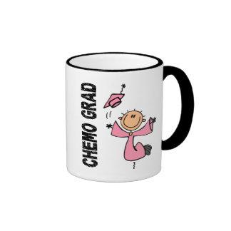 GRADUADO rosado 1 (cáncer de CHEMO de pecho) Tazas De Café